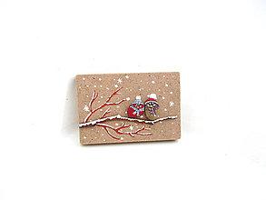 Tabuľky - Drobulinké vtáčiky v snehu - 11304099_
