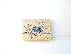 Tabuľky - Uzimené štebotavé vtačúrence - menšie, modrá - 11304110_