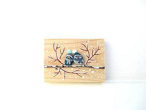 Tabuľky - AKCIA - posledný kus - Uzimené štebotavé vtačúrence - menšie, zelená - 11304142_