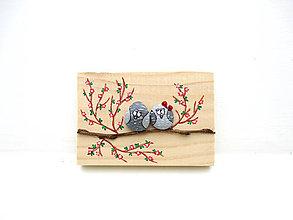 Tabuľky - Zamilovaný párik - menší, červená - 11304202_