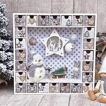 Dekorácie - Adventný kalendár snehuliak - 11302940_