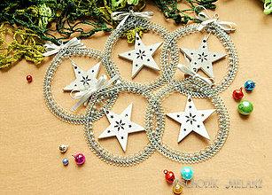 Dekorácie - Vianočná dekorácia hvezdička - 11302844_