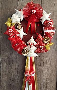"""Dekorácie - Vianočný veniec """"Rozprávkové vianoce ...."""" (Červený priemer 30 cm) - 11302447_"""