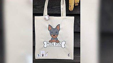 Iné tašky - ♥ Plátená, ručne maľovaná taška ♥ - 11302967_