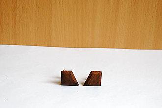 Šperky - Drevené manžetové gombíky - Orechové kúsky 1 - 11304192_