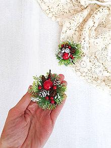Odznaky/Brošne - Vianočná brošňa ,,červená,, - 11303226_