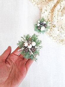 Odznaky/Brošne - Vianočná brošňa ,,biela,, - 11303289_