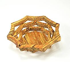 Nádoby - Drevená miska 16cm špaltovaná jelša - 11304338_