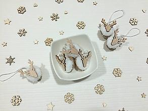 Dekorácie - Sobíky v kožuchu - 11303585_