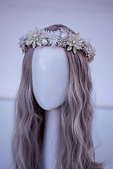 Ozdoby do vlasov - Bielý ľadový venček - 11305218_
