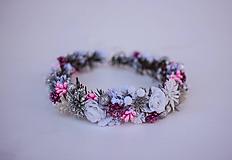Ozdoby do vlasov - Ružový ľadový venček - 11305222_