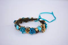 Ozdoby do vlasov - Modrý ľadový venček - 11305242_