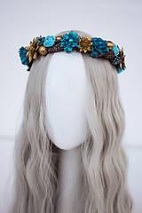 Ozdoby do vlasov - Modrý ľadový venček - 11305243_