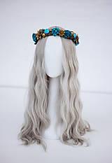 Ozdoby do vlasov - Modrý ľadový venček - 11305244_