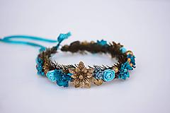 Ozdoby do vlasov - Modrý ľadový venček - 11305245_
