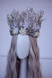 Ozdoby do vlasov - Romantická ľadová koruna - 11305202_
