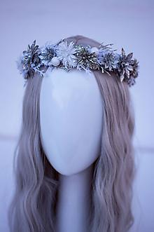 Ozdoby do vlasov - Strieborný ľadový venček - 11305208_