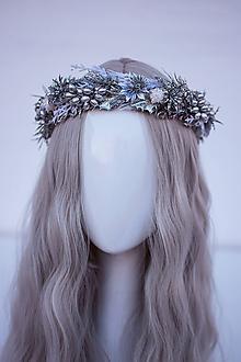 Ozdoby do vlasov - Strieborný ľadový venček - 11305214_