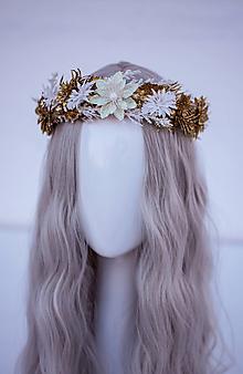 Ozdoby do vlasov - Zlatý ľadový venček - 11305225_
