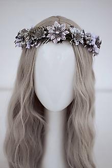 Ozdoby do vlasov - Strieborný ľadový venček - 11305241_