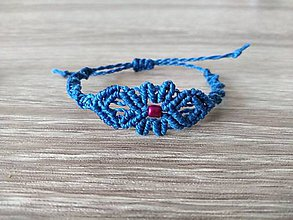 Náramky - Makramé náramky pre malé slečny (lapis blue) - 11302359_