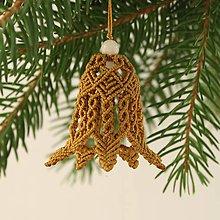 """Dekorácie - Makramé vianočné ozdoby """"Zvončeky"""" (cca. 4,5 cm  - Meď/Bronz) - 11303373_"""