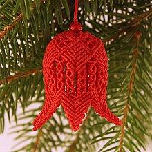"""Dekorácie - Makramé vianočné ozdoby """"Zvončeky"""" - 11303405_"""
