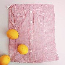Úžitkový textil - Zero waste Košelák (Pásikavé rúžové vrecúško) - 11302782_