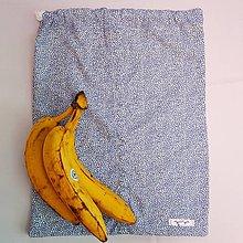 Úžitkový textil - Zero waste Košelák (Modré bodkované vrecúško) - 11302820_