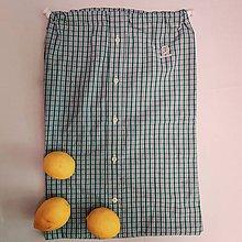Úžitkový textil - Zero waste Košelák (Modrozelené kárované vrecúško) - 11302823_