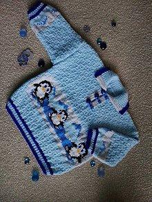 Detské oblečenie - Pletený chlapčenský pulóver - 11302458_