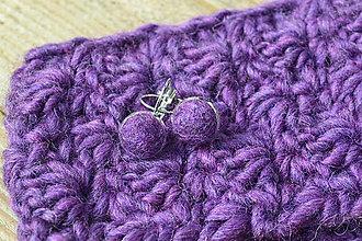 Čiapky - Set fialový - 11304933_