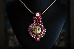 Náhrdelníky - Soutache náhrdelník s vážkou - 11304939_