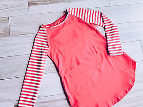 Tehotenské/Na dojčenie - Kojo tričko s dlhým rukávom Pásik - 11302968_