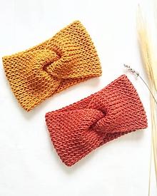 Čiapky - Twist čelenka -farby zeme - 11302341_