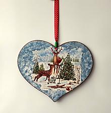Tabuľky - tabuľka na dvere vianoce v lese - 11304060_
