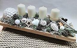 Dekorácie - Adventný svietnik - 11304735_