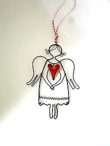 Dekorácie - veľký pokojný anjel - 11302071_
