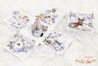 Papiernictvo - Vianočná darčeková krabička na peňažný dar - 11310045_