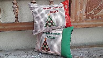 Úžitkový textil - Veselé Vianoce BABKA, DEDKO - 11309297_