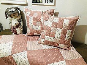 Úžitkový textil - moderná jemná ružová s bielou - 11310294_