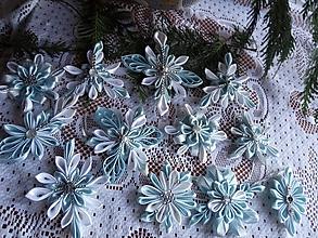 Dekorácie - ozdoby na stromček - cena za sadu (Modrá) - 11307263_