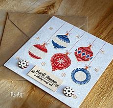 Papiernictvo - Vianočná pohľadnica Gule - 11308220_