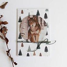 Papiernictvo - Pohľadnica, vlk - 11306432_