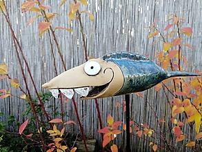 Dekorácie - Ryba zápich 3D č.1 - 11306766_