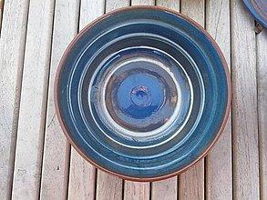 Nádoby - Miska pásikavá modrá č.3 - 11308015_