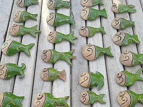 Dekorácie - Rybička na stromček zelená - 11309499_