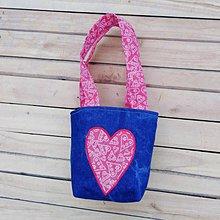 Detské tašky - Detská taška so srdiečkom - 11310506_