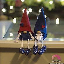 Dekorácie - Vianočný škriatkovský párik - 11308780_