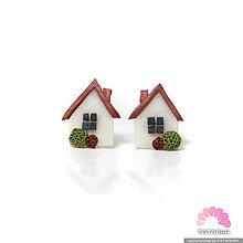 Náušnice - Náušnice - domčeky so záhradkou - 11309990_